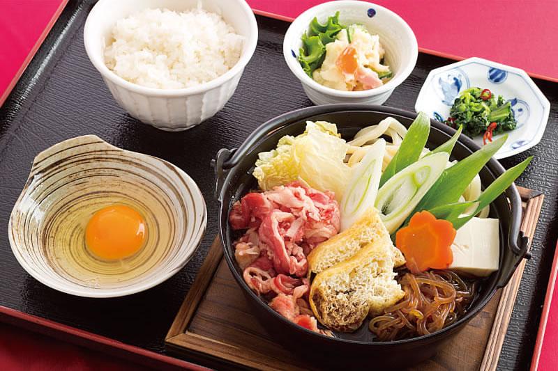 すき焼き鍋定食 ¥1,480(税込¥1,620)
