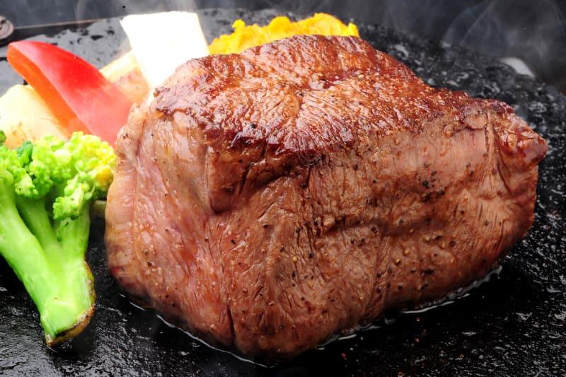 アンガスヒレステーキ120g(ライス・スープ付) ¥1,980(税込¥2,170)